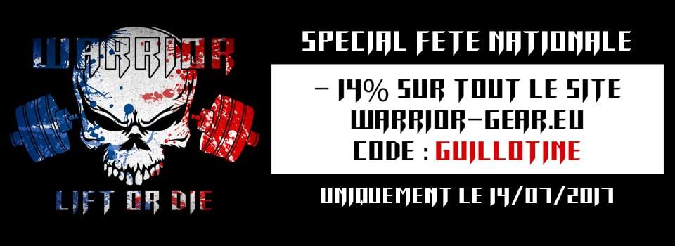 warrior promo 14 juillet - accessoires et vêtements de sport
