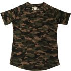 t-shirt arrondi camo bodybuilding