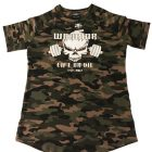 t-shirt musculation camouflage arrondi