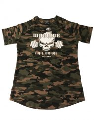 t-shirt musculation camouflage arrondi