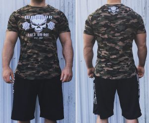 tshirt militaire musculation - t shirt camouflage bodybuilding