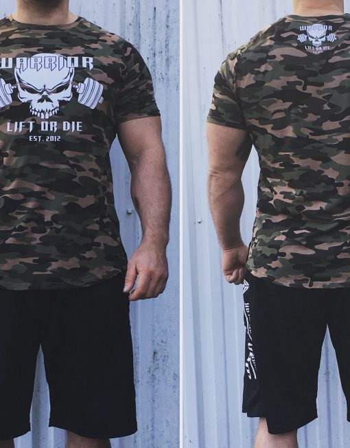 tshirt militaire musculation - T-shirt bodybuilding camo