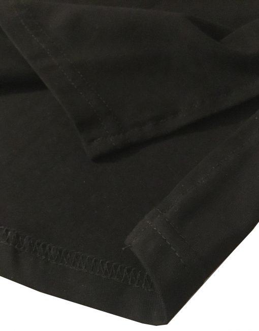 tshirt noir arrondi entaille - tshirt musculation bodybuilding