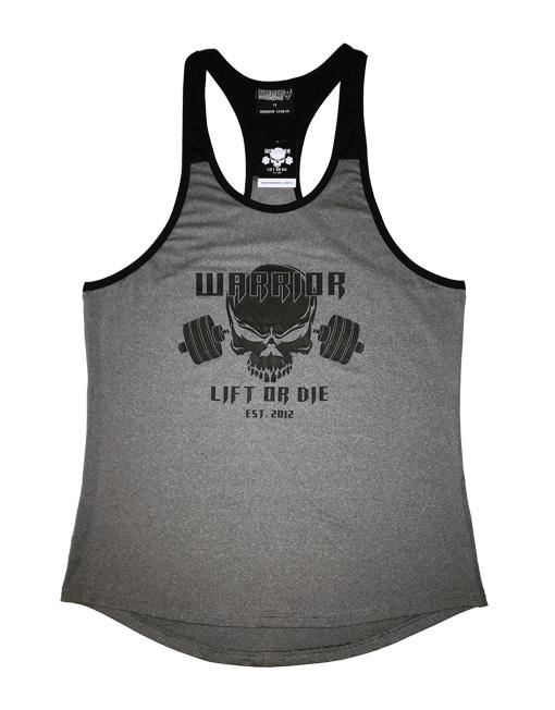 stringer musculation gris noir - debardeur bodybuilding - vetement