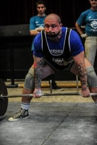 Joe rossi - warrior powerlifting gear