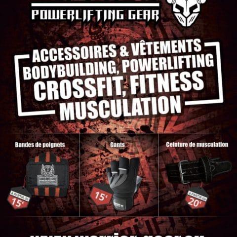 Boutique en ligne d'accessoires de musculation et de vêtements de sport
