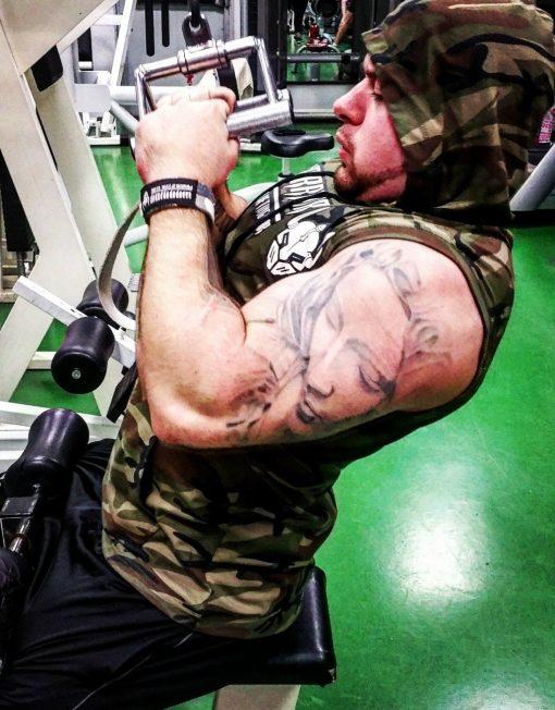 tshirt militaire musculation - tshirt sans manche bodybuilding / fitness