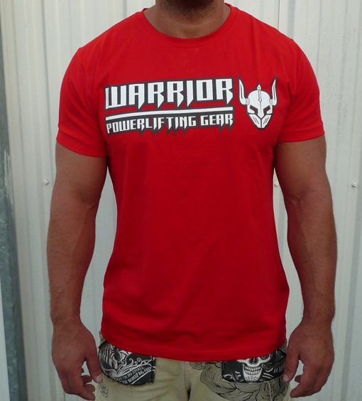 tshirt musculation homme rouge