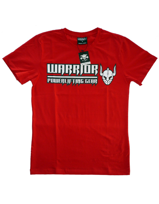 tshirt musculation rouge warrior