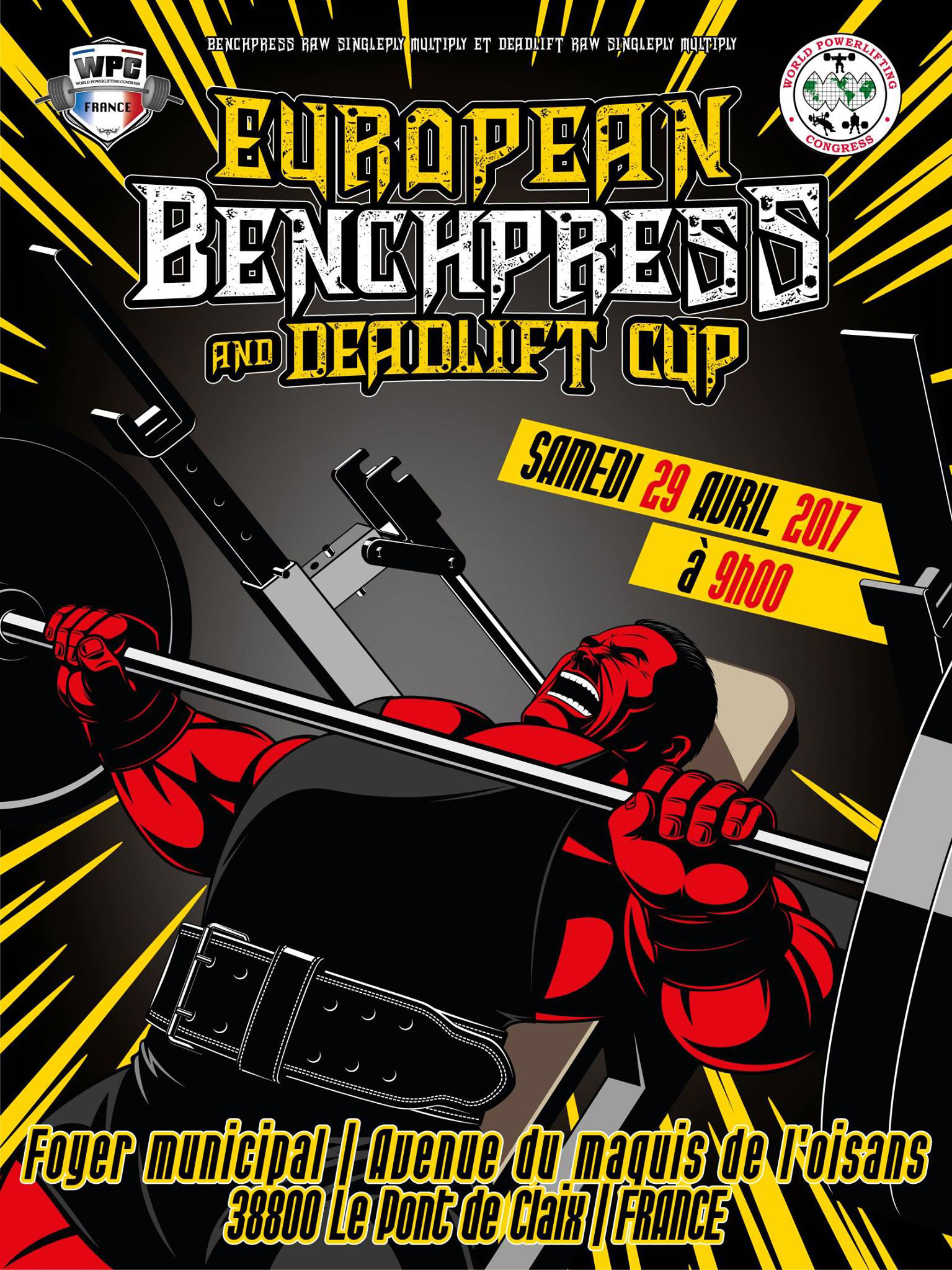 european cup benchpress deadlift warrior gear