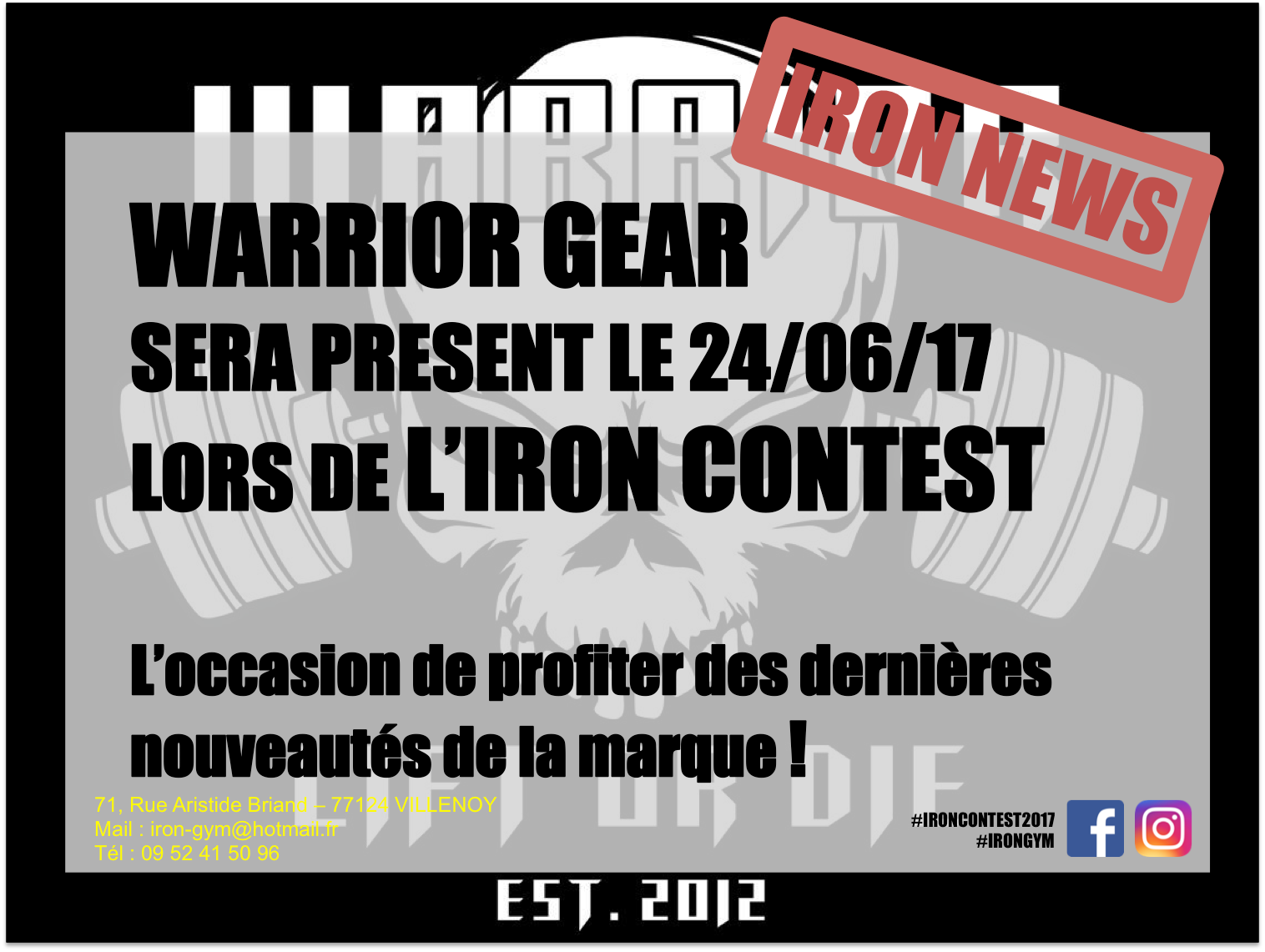 iron contest 2017 irongym - Stand Warrior
