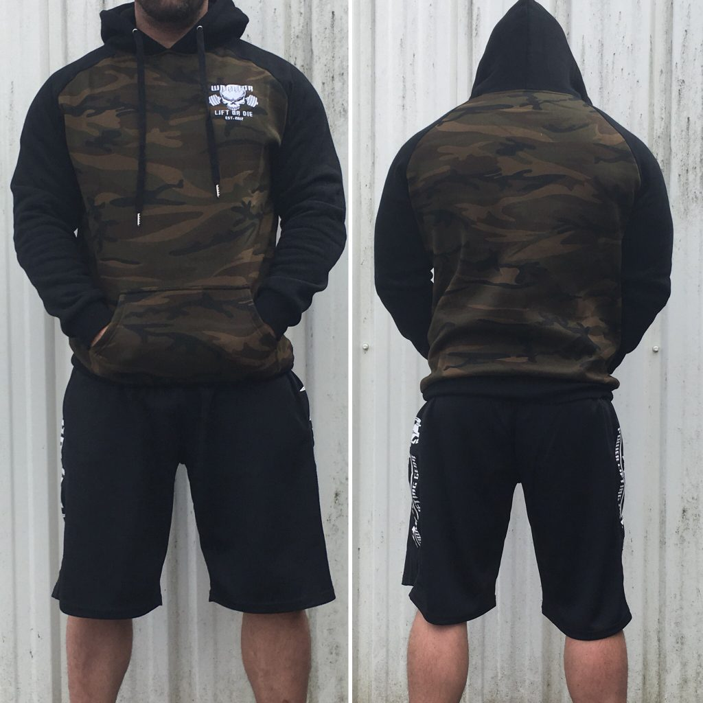 sweat capuche camouflage - sweat musculation camo noir