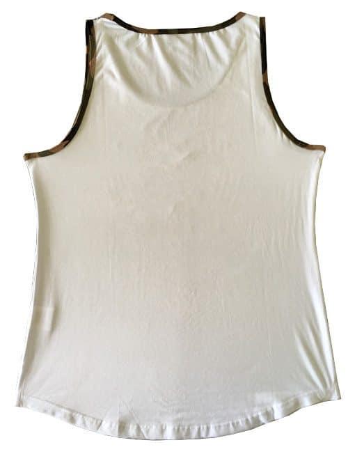 debardeur bodybuilding blanc - debardeur muscu blanc / militaire