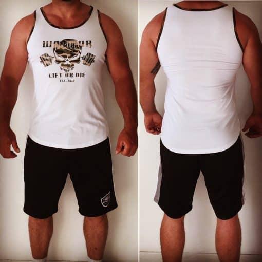 debardeur sport homme musculation blanc - bodybuilding