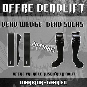 Pack Deadlift - Promo Deadlift Wedge + Chaussette de soulevé de terre