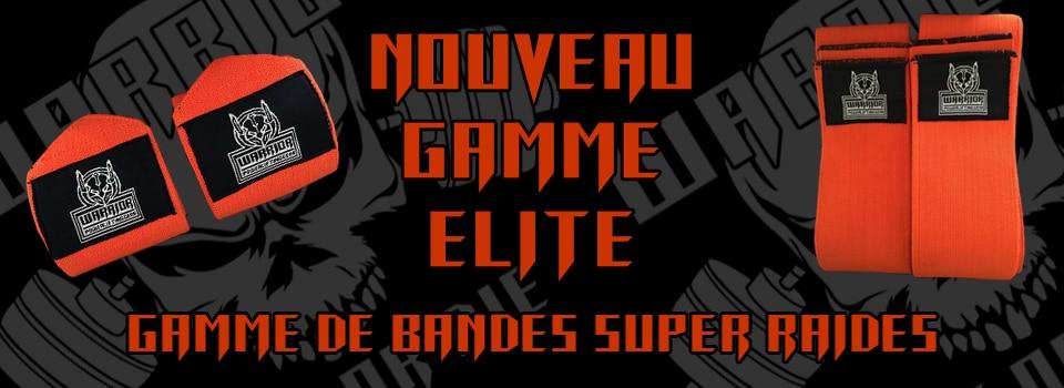 gamme elite : gamme de bandes poignets et genoux super raide