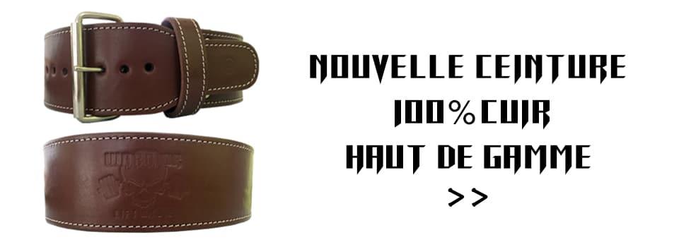 nouvelle ceinture 100% cuir - ceinture de musculation
