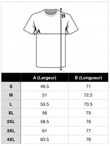 guide taille tshirt musculation