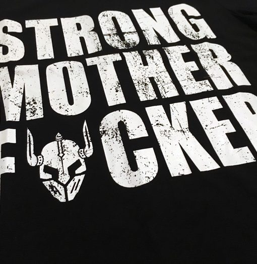 tshirt bodybuilding noir : strong motherfucker
