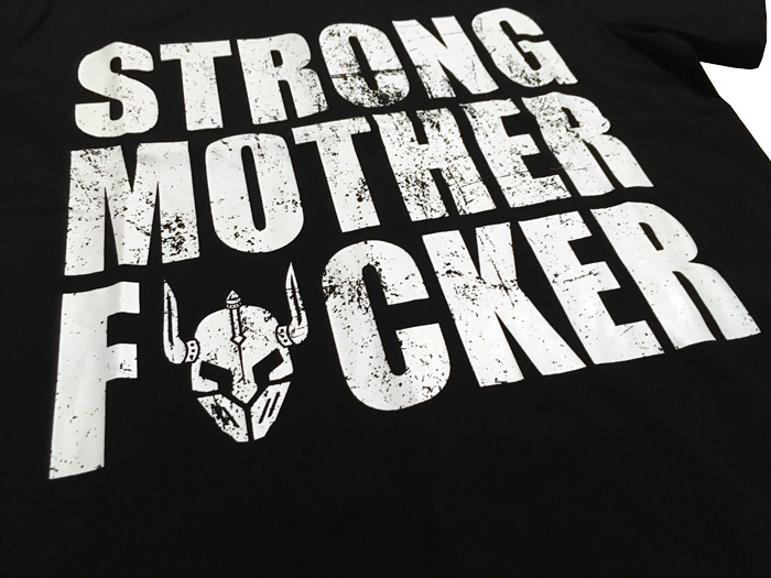 tshirt bodybuilding noir : strong motherfucker