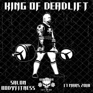 king of deadlift - salon bodyfitness - Warrior Gear