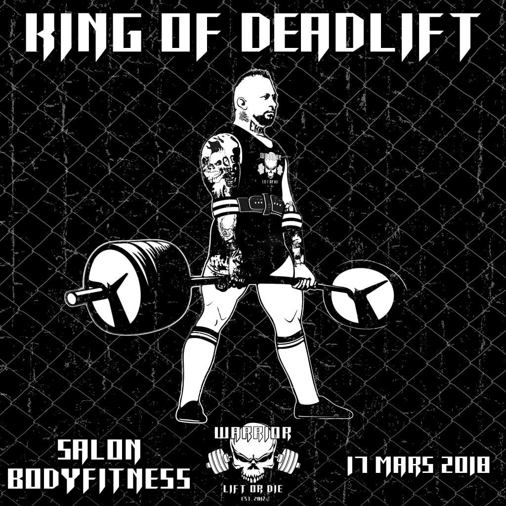 king of deadlift - salon bodyfitness - Warrior Gear