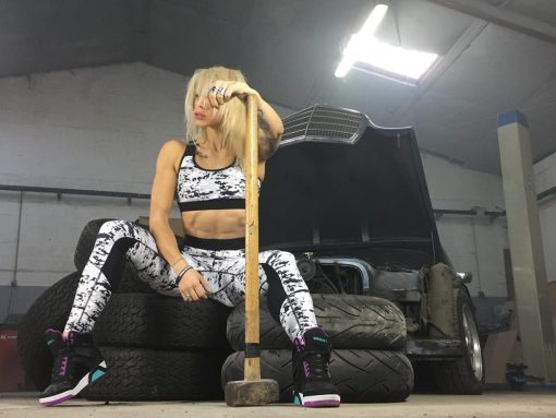 legging femme fitness musculation noir