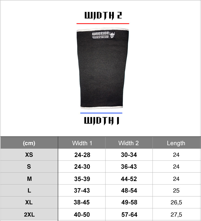 warrior double ply knee sleeves - knee sleeves for bodybuilding, powerlifting and strongman