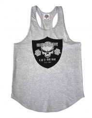 debardeur gris musculation - stringer musculation - warrior gear
