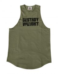 debardeur musculation vert - stringer fitness - destroy weight