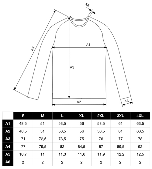 guide taille raglan musculation warrior