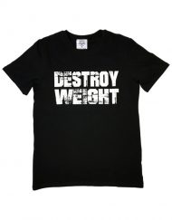 tshirt musculation destroy weight - t-shirt muscu warrior - tshirt noir fitness
