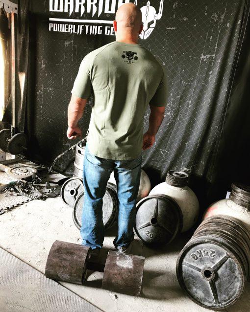 tshirt musculation vert - t-shirt muscu vert - tshirt warrior gear