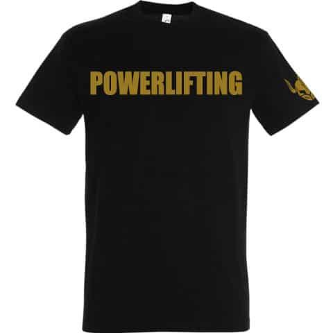 tshirt noir or personnalise sport