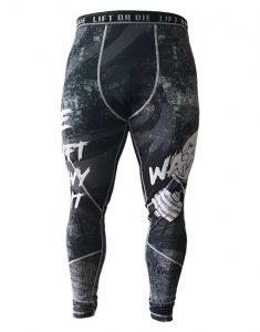 legging musculation homme - legging powerlifting - legging fitness - legging skull