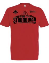 tshirt strongman rouge - grand prix international strongman de saint quentin
