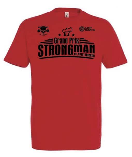 tshirt strongman rouge - grand prix international strongman de saint quentin