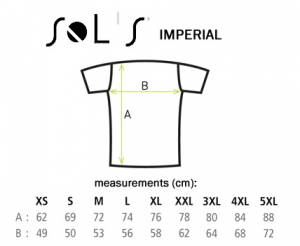 sizing chart sols imperial
