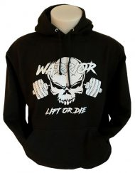 sweat musculation warrior lift or die - sweat noir musculation warrior