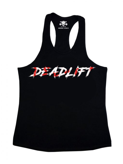 stringer noir deadlift - debardeur deadlift powerlifting
