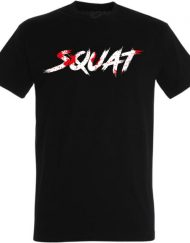 powerlifting squat t-shirt - black t shirt squat