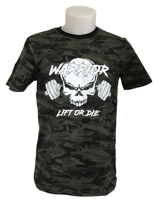 tshirt camo musculation warrior gear
