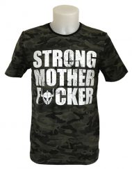tshirt camo strong mother fucker - tshirt fitness