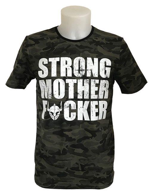 tshirt camo strong mother fucker - tshirt fitness