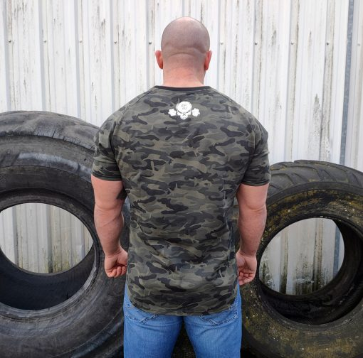 t-shirt bodybuilding camouflage