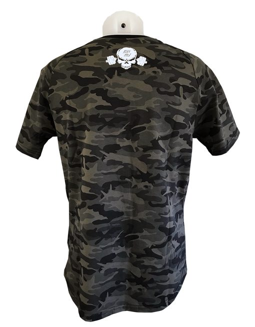 tshirt camo powerlifting warrior gear