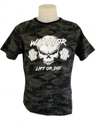 tshirt camo warrior gear - powerlifting - bodybuilding - strongman - musculation