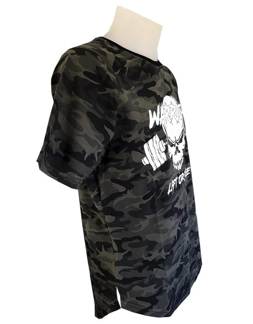 tshirt fitness coupe arrondi - couleur camo - fitness - musculation - bodybuilding - strongman