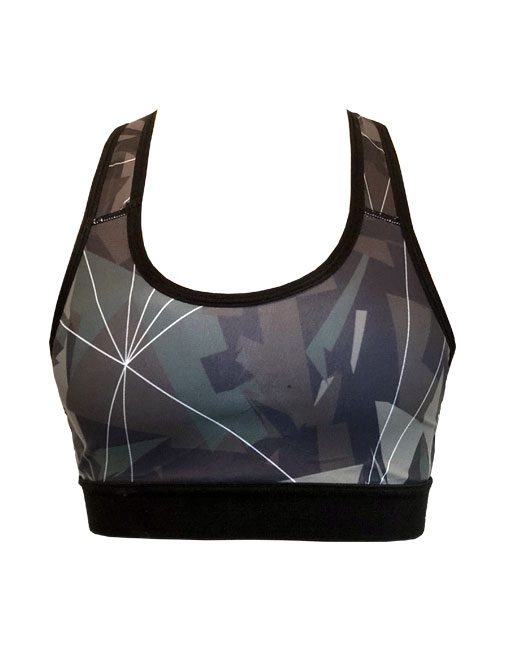 brassiere fitness camo origami - brassiere musculation femme - brassière warrior gear