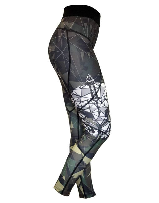 legging femme fitness camo warrior gear